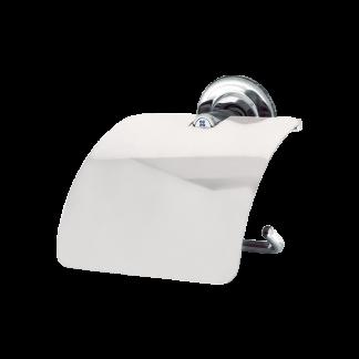 Portal papel higiênico com tampa
